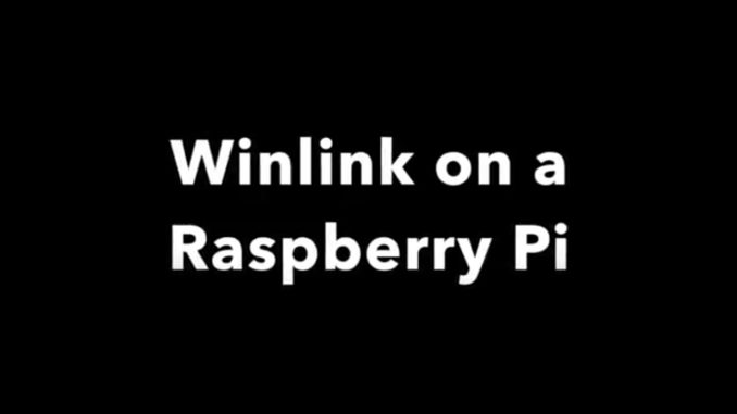 Winlink on a Raspberry Pi – OH8STN